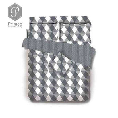 Picture of PRIMEO Premium 100% Cotton 220TC King Comforter Set of 4 Grey