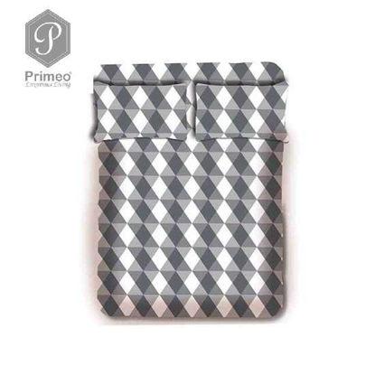 Picture of PRIMEO Premium 100% Cotton 220TC King Bed Sheet Set of 3 Grey