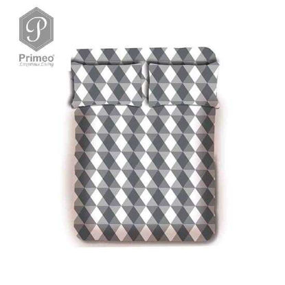 Picture of PRIMEO Premium 100% Cotton 220TC Full Bed Sheet Set of 3 Grey