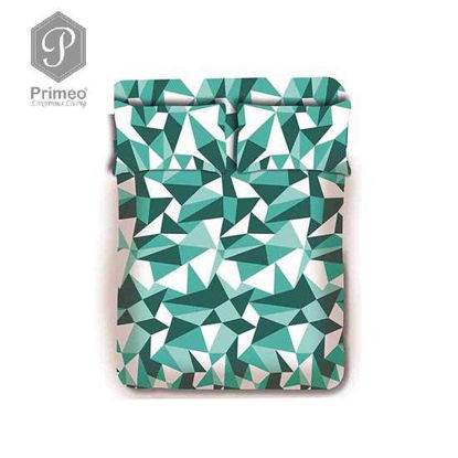 Picture of PRIMEO Premium 100% Cotton 220TC Full Bed Sheet Set of 3 Turquoise