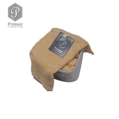 Picture of PRIMEO Premium 100% Cotton Hand Towel Set of 4 w/ Basket 300gsm Beige