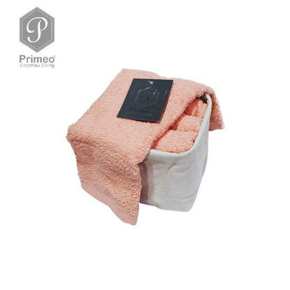 Picture of PRIMEO Premium 100% Cotton Hand Towel Set of 4 w/ Basket 300gsm Coral
