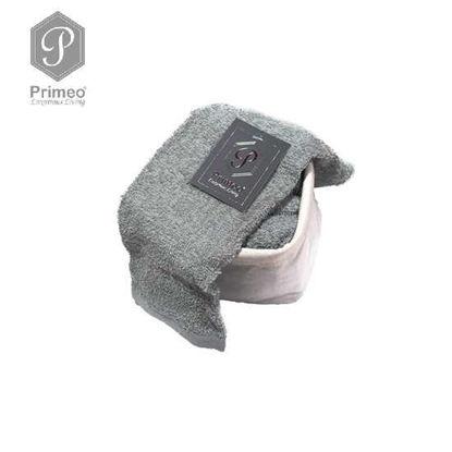Picture of PRIMEO Premium 100% Cotton Hand Towel Set of 4 w/ Basket 300gsm Grey