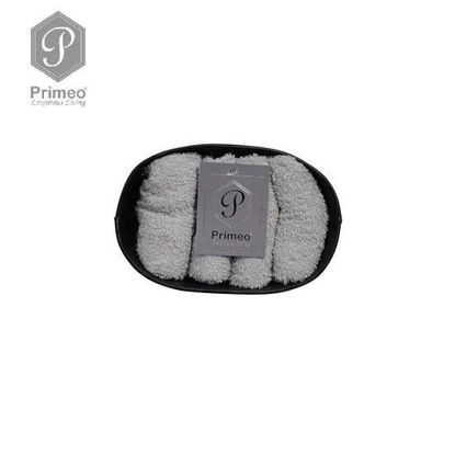 Picture of PRIMEO Premium 100% Cotton Hand Towel Set of 4 w/ Basket 300gsm Grey