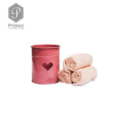 Picture of PRIMEO Premium 100% Cotton Hand Towel Set of 3 w/ Basket 300gsm Coral