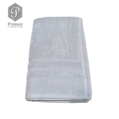 Picture of PRIMEO Premium 100% Ring Spun Carded Cotton Double Pile Bath Towel 540gsm Grey