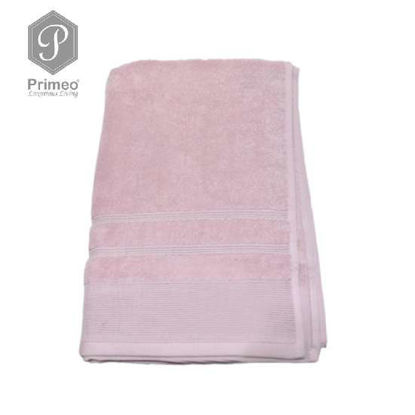 Picture of PRIMEO Premium 100% Ring Spun Carded Cotton Double Pile Bath Towel 540gsm Pink