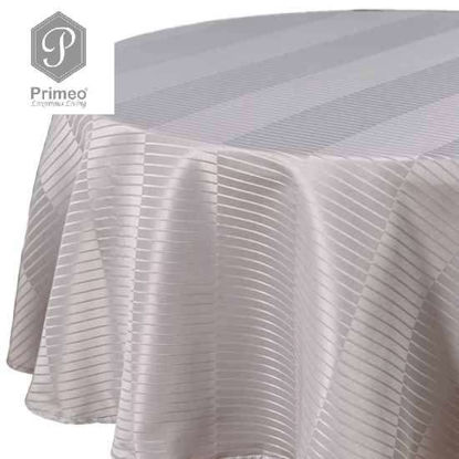 Picture of PRIMEO Jacquard Round Table Cloth Gray