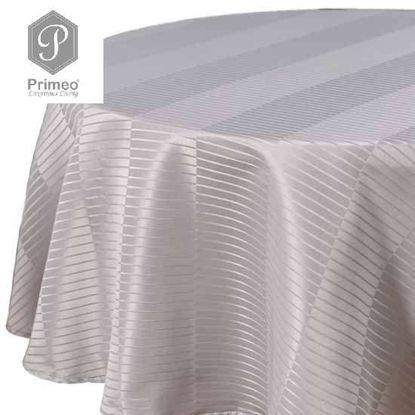 Picture of PRIMEO Jacquard Round Table Cloth Gray