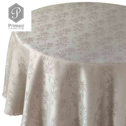 Picture of PRIMEO Jacquard Round Table Cloth Taupe