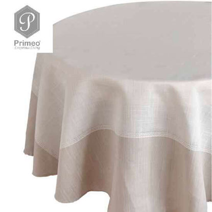 Picture of PRIMEO Yarn Dyed Table cloth Beige