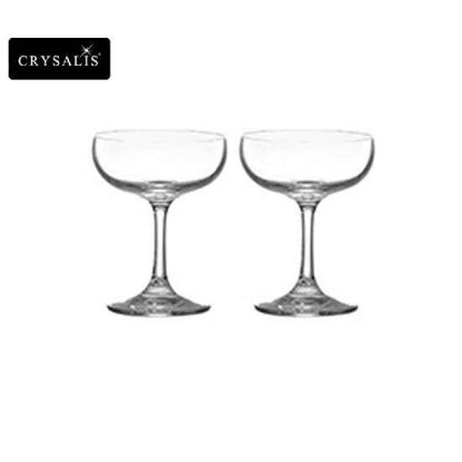 Picture of CRYSALIS Premium Lead Free Crystal Stemware Saucer Champagne Cocktail Glass 220ml | 8oz Set of 2