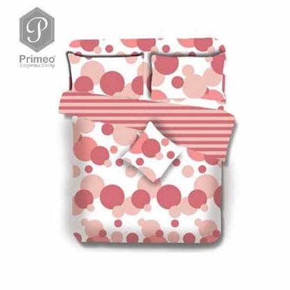 Picture of PRIMEO Premium 100% Cotton 220TC Full Comforter Set of 4 Coral