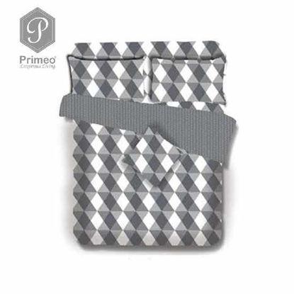 Picture of PRIMEO Premium 100% Cotton 220TC Full Comforter Set of 4 Grey