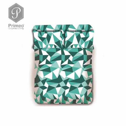Picture of PRIMEO Premium 100% Cotton 220TC Queen Bed Sheet Set of 3 Turquoise