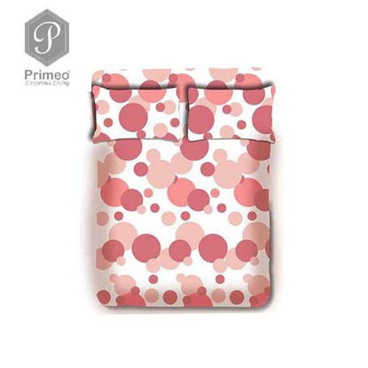 Picture of PRIMEO Premium 100% Cotton 220TC Full Bed Sheet Set of 3 Coral