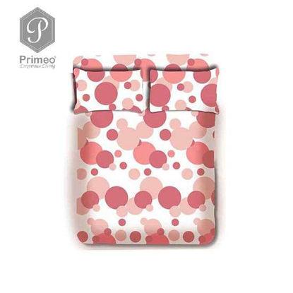 Picture of PRIMEO Premium 100% Cotton 220TC Full Bed Sheet Set of 3 Coral