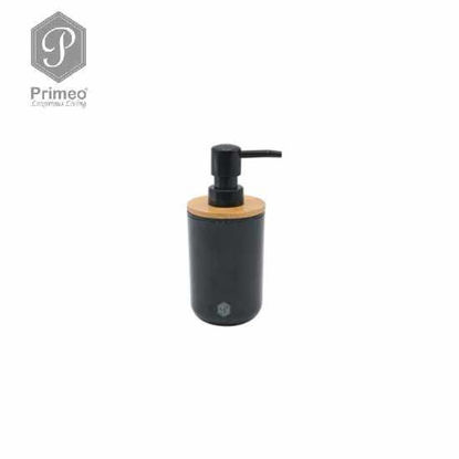 Picture of PRIMEO Premium Bamboo Soap Lotion Alcohol Dispenser Soap Dispenser 7.2cm X 7.2cm X 16.7cm
