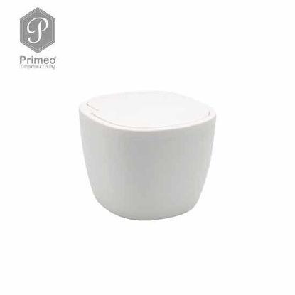 Picture of PRIMEO Premium Bamboo Mini Waste Bin 16.6cm X 15.8cm X 12.3cm