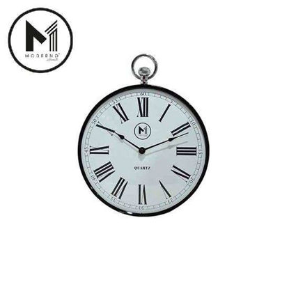"Picture of MODERNO Premium Wall Clock 12"" with Roman Numeral"