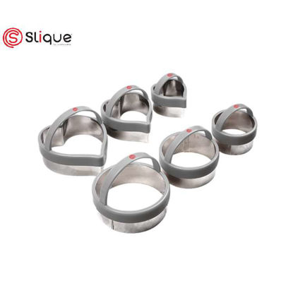 Picture of SLIQUE Premium Round & Heart Shape Cookie Cutter Set of 6 Baking Accessories Amazing Gift Idea For Any Occassion!
