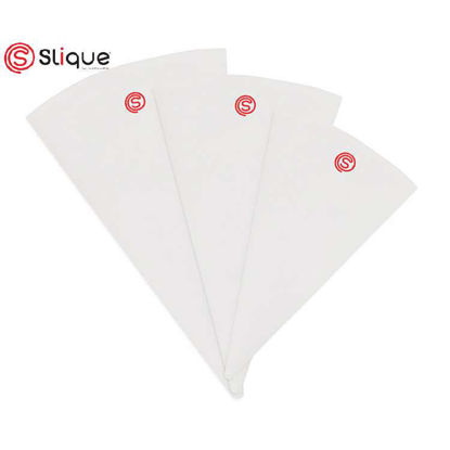 Picture of SLIQUE Premium Cloth + EVA Coated Reusable Icing Bag Set of 3 Baking Accessories Amazing Gift Idea For Any Occassion!