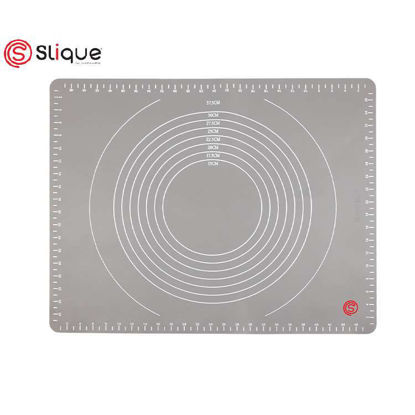 Picture of SLIQUE Premium Silicone Non-Stick, Food Safe Measuring Baking Mat Baking Accessories Amazing Gift Idea For Any Occassion!