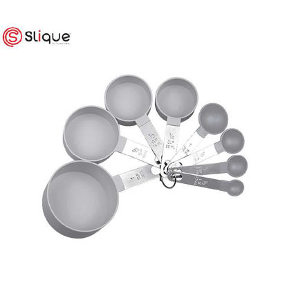 Picture of SLIQUE Premium Stackable, Compact Measuring Cup & Spoon Set Set of 8 Baking Accessories Amazing Gift Idea For Any Occassion!