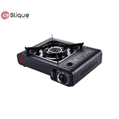 Picture of SLIQUE Portable Gas Stove - Black - Kitchen Appliances - Indoor and Outdoor Use - Perfect Gift for all Occassion