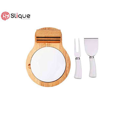Picture of SLIQUE Cheese set of 4pcs round board