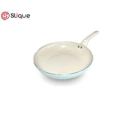 Picture of SLIQUE Ceramic Non-Stick Fry Pan Unique & Stylish, Aluminium, Induction, Teal Coating 20cm