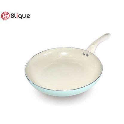 Picture of SLIQUE Ceramic Non-Stick Fry Pan Unique & Stylish, Aluminium, Induction, Teal Coating 24cm