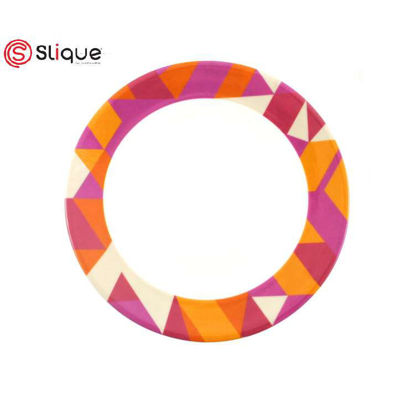 Picture of SLIQUE Melamine Round Plate 8 inches Set of 10