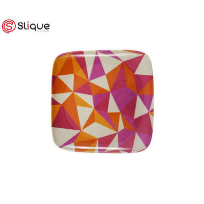 Picture of SLIQUE Melamine Square Plate 7.5 inches