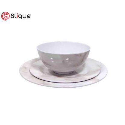 Picture of SLIQUE 12pc Marble design Dinnerware Set