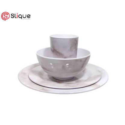 Picture of SLIQUE 16pc Marble Dinnerware Set