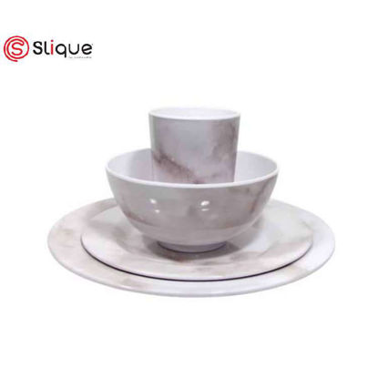 Picture of SLIQUE 24pc Marble Dinnerware Set