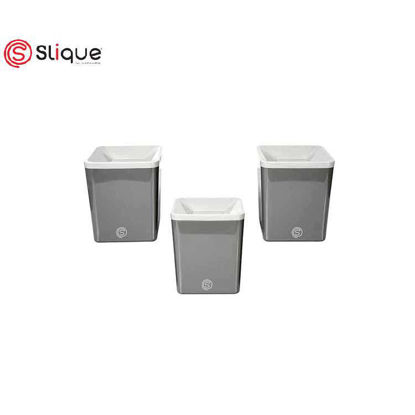 Picture of SLIQUE 3 pcs set Canister with Lid - Best Gift for Mother/Gift for Wife/Birthday Gift/Anniversary Gift./Wedding Gift