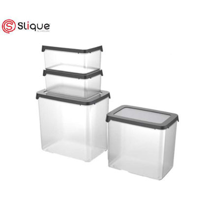 Picture of SLIQUE Food Container 4pc - Grey