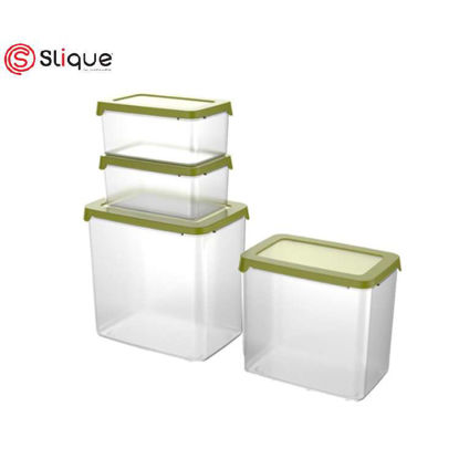 Picture of SLIQUE Food Container 4pc - Green