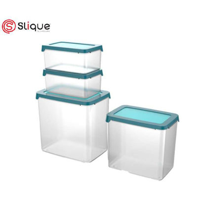 Picture of SLIQUE Food Container 4pc - Aqua Green