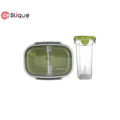 Picture of SLIQUE Lunch Box and Tumbler - Green