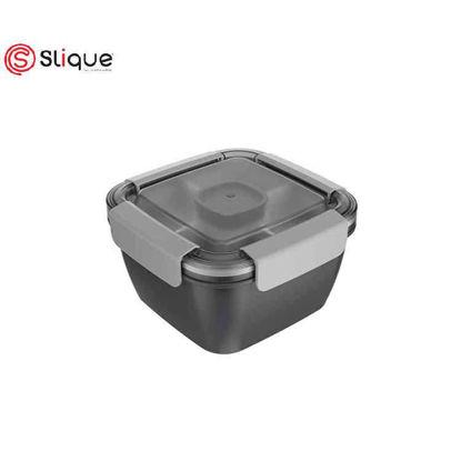 Picture of SLIQUE Square Lunch Box 1 L -Grey