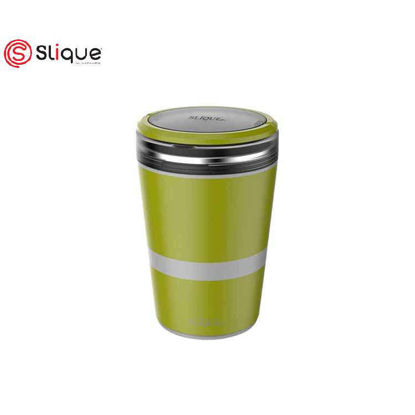 Picture of SLIQUE Lunch Box 2 layer & 1 Fork - Green