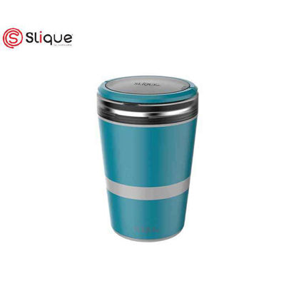 Picture of SLIQUE Lunch Box 2 layer & 1 Fork - Aqua Green