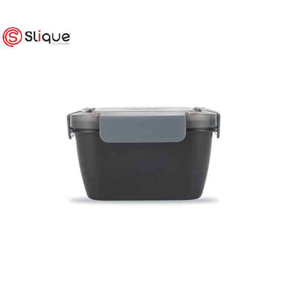 Picture of SLIQUE Square Lunch Box 1L - Dark Grey