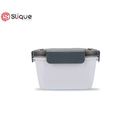 Picture of SLIQUE Square Lunch Box 1L - White