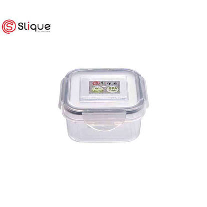 Picture of SLIQUE Square Food Container 380ml -Leak Proof - Lunch box Set - Best Gift for all Occasion/Birthday Gift