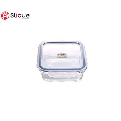Picture of SLIQUE Square Glass Food Container - Leak Proof - Lunch Box Set - Best Gift for all Occasion/Birthday Gift