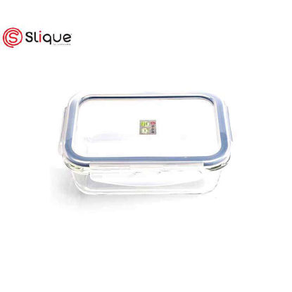 Picture of SLIQUE Rectangle Glass Food Storage - Leak Proof - Lunch Box Set -Best Gift for all Occasion/Birthday Gift